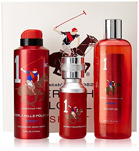 Beverly Hills Polo Club Gift Set No.1 for Men (Eau De Toilette, shower gel and Deodorant)