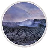 Pixels Round Beach Towel With Tassels featuring ''sunset Mount Bromo - Java'' by Joana Kruse