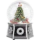 Spode Christmas Tree Musical Tree Snow Globe, Small