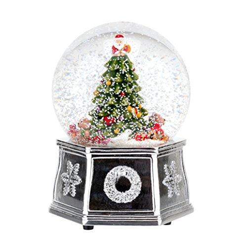 Spode Christmas Tree 2016 Annual Edition Musical Tree Snow Globe, Small