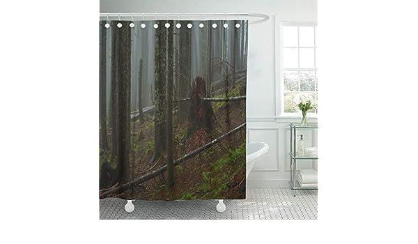 Cortina de ducha de tela con ganchos abstracto para yoga, estudio, meditación, clase Silueta de mujer sentada y letras, toalla de frase, de color asiático, 182,88 cm x 198,32 cm, impermeable, decorativa