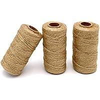 200/m di Filo di Cotone Resistente Corda Ideale per preparare macellerie G2PLUS Craft a Due Fili Fai da Te e Fatto a Mano Arti Natural Jute