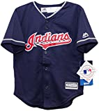 Cleveland Indians Alternate Navy Cool Base Toddler Jersey (2T)