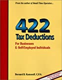 img - for 422 Tax Deductions for Business and Self-Employed Individuals (475 Tax Deductions for Businesses & Self-Employed Individuals) book / textbook / text book