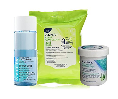 Almay Eye Makeup Removers Bundle (3 items) (Longwear & Waterproof)