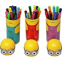 Cartoon Shape Pencil Box Having Sketch Pen Stationary Kit - 12 Pens - Birthday Party Return Gift for Kids (10 case)
