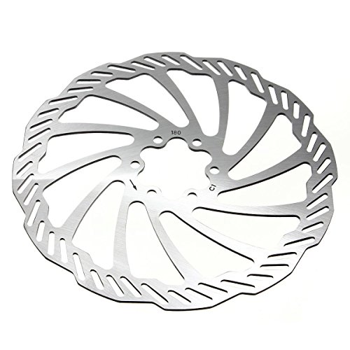 OUTERDO Cycling Bicycle Bike Brake Disc Rotors 120mm/140mm/160mm/180mm/203mm With Bolts 180mm Clean Sweep Disc Brake Rotor