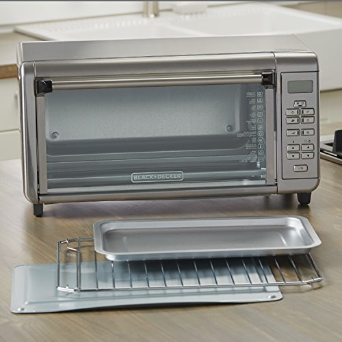 BLACK+DECKER TO3290XSD TO3290XSBD Toaster Oven, 8-Slice, Stainless Steel by BLACK+DECKER (Image #3)