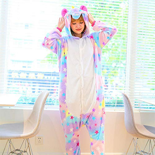 Tenma Animales Unicornio Pijamas Una Entero Mujer Pieza Star Onesies Mujeres De Conjuntos Kits Lindos Invierno Cosplay Trajes Para Jylw FU4q1q