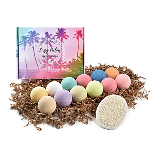 Spa Gift Set Fizzies (4 oz each-LARGE). FREE Loofah Sponge! Best Gift Set for a Soothing, Colorful and Fun Bubble Bath. Perfect gift idea for mom, daughter, wife or girlfriend. ()