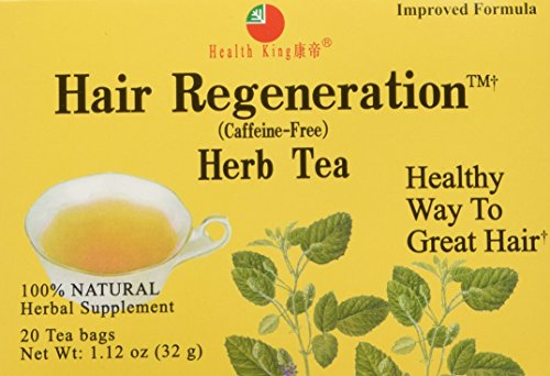- Health King Hair Regeneration Herb Tea, Teabags, 20 Count Box