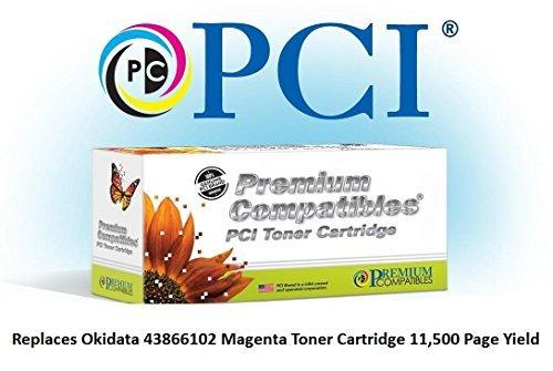 Tinta reemplazo 43866102-PCI y cartucho de tóner para impresoras Okidata, Magenta by Xcdiscount