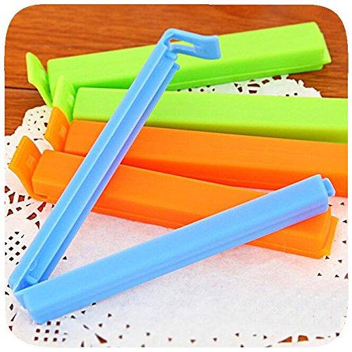 (LIVDAT 20 Pcs Reusable Bag Sealer Sticks Plastic Sealing Chip Clips for Bread, Snack, Coffee Fruit Food)