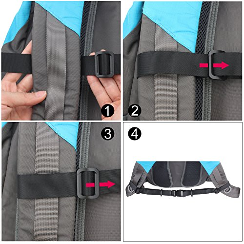 Wisdompro Backpack Chest Strap, Heavy Duty Adjustable Backpack Sternum Strap Chest Belt with Quick Release Buckle for Hiking and Jogging - with Slide Locks (2 Pack) by Wisdompro (Image #3)