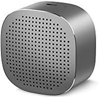 Portable Bluetooth Speaker, Vogek Mini Wireless Speaker with 6-Hour Playtime, 33-Foot Bluetooth Range, Enhanced Bass, Noise-Cancelling Microphone - Space Gray
