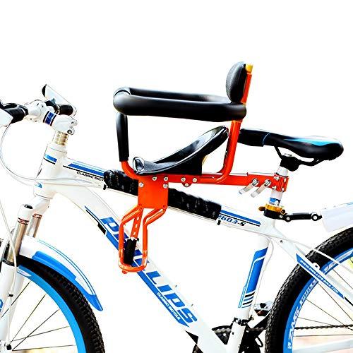 Asiento Delantero de la Bicicleta del niño, Delantero y Trasero de la barandilla del Ajuste del Pedal Abierto Positivo...
