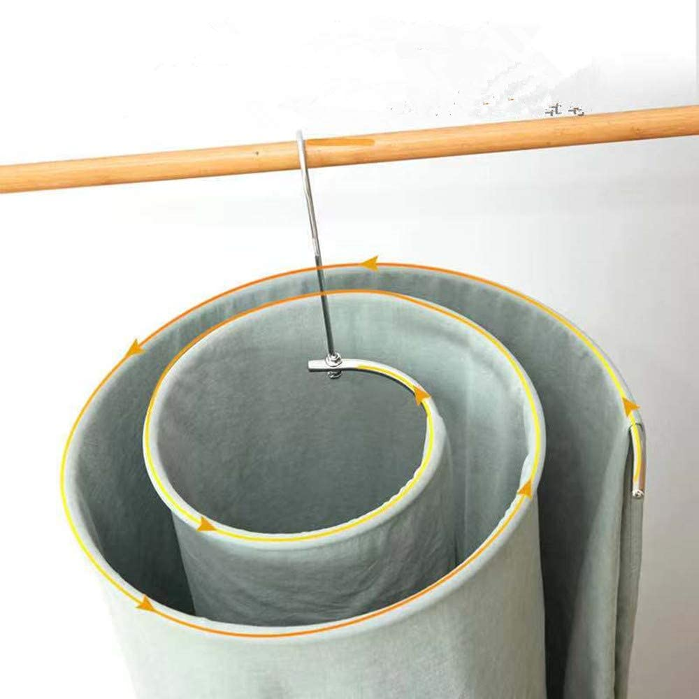 poiuyt Colgador rotativo s/ábanas de Secado artefacto edred/ón Redondo Espiral Mantas de Secado bastidores de Secado de Acero Inoxidable para Interiores