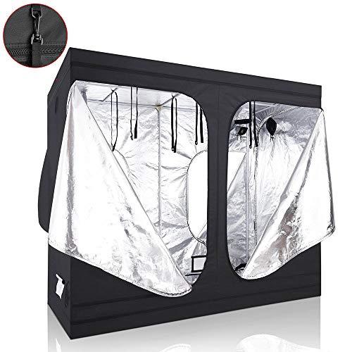 Yescom LAGarden 96x48x78 100% Reflective Diamond Mylar Hydroponics Indoor Grow Tent Non Toxic Planting Room