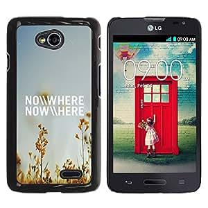 Qstar Arte & diseño plástico duro Fundas Cover Cubre Hard Case Cover para LG Optimus L70 / LS620 / D325 / MS323 ( Nowhere Field Summer Sky Blue Nature)