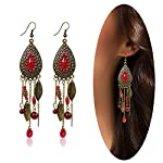 Eternity J. Women Vintage Retro Ethnic Drop Bohemian Dangle Earring Lolita Antique Bead Tassel Earrings 6