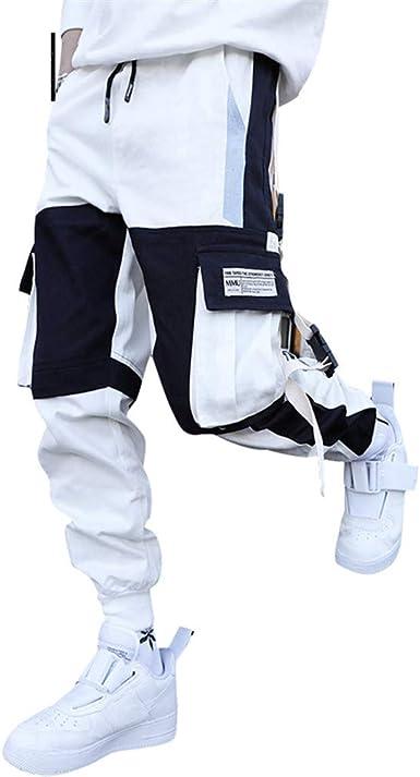 Streetwear Hombres Cargo Harem Pantalones Hip Hop Casual Hombre Pantalones De Chandal Joggers Pantalones Harajuku Hombres Pantalon White L Amazon Es Ropa Y Accesorios