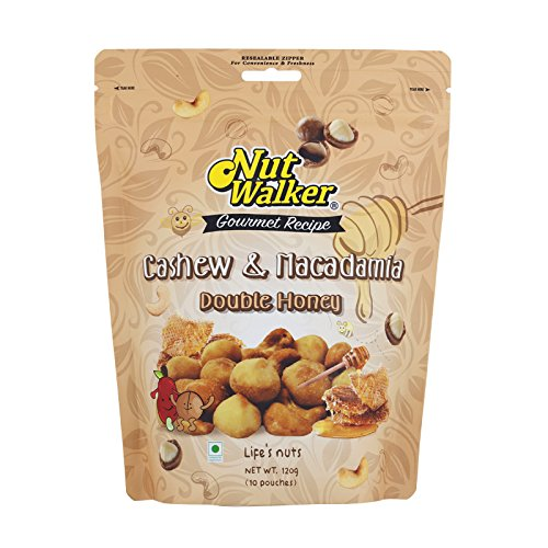 Nut Walker, Double Honey Cashew & Macadamia, net weight 120 g (Pack of 1 piece) / Beststore by KK8