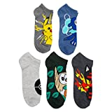 Pokemon Men's Pokemon 5 Pack No Show Casual
