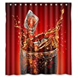 Coca Cola Shower Curtain Shower Curtain Custom Waterproof Bathroom Summer Cool Coke Polyester Fabric 66