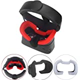 Esimen Silicone Mask Pad & Face Cover for Oculus Rift S Standard Facial Pad, Reusable Sweatproof Lightproof (Red)