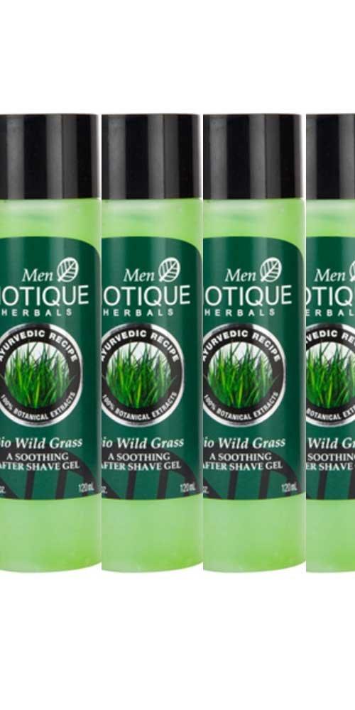 Biotique Bio Wild Grass Shave Gel - 120ml (Pack of 4)