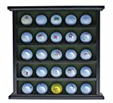 Golf Gifts-Gallery Golf Ball Display Cabinet, NO Door, GB25 (Black)