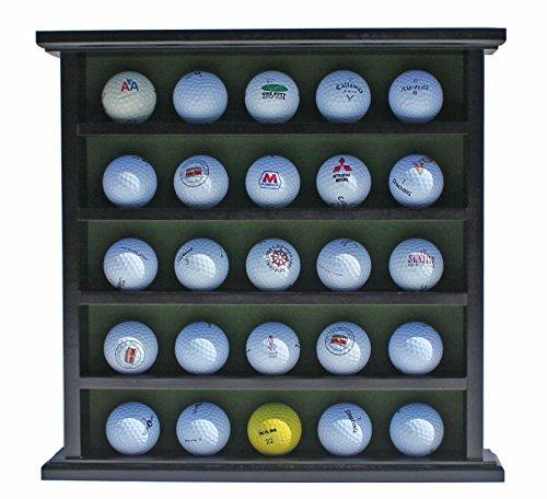 Golf Gifts-Gallery Golf Ball Display Cabinet, NO Door, GB25 (Black) (Golf Ball Display Case)