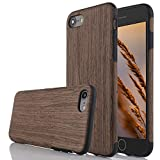 wood back iphone 6 - iPhone 6 Plus/6S Plus Case (5.5 inch), L-FADNUT [Carbon Fiber Lines] TPU Silicone Ultra Slim Wooden Hybrid Back CaseShock Absorbing Bumper Protective Case Cover-Black Rose Wood