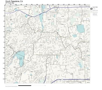 Bodies Of Water In California Map.Amazon Com Zip Code Wall Map Of South Pasadena Ca Zip Code Map Not