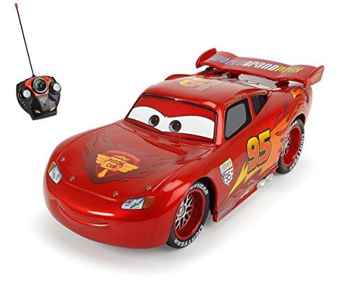 Dickie Toys 203089538 - RC Metallic Lightning McQueen, funkferngesteuerter Rennwagen, 17 cm