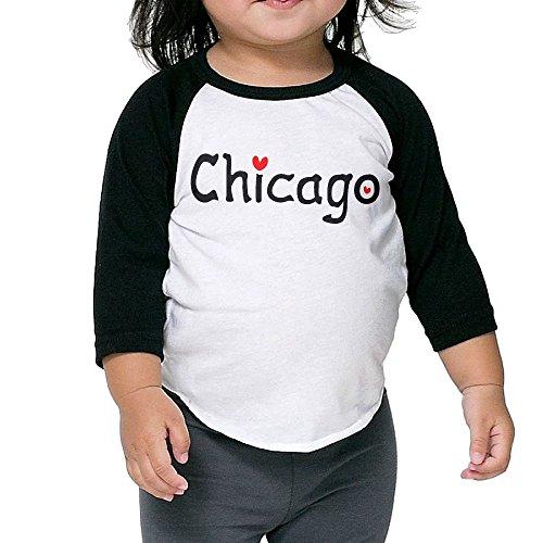 Love Chicago Kid's Sleeve Raglan Clothes Unisex 3 Toddler Novelty