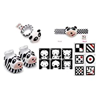Black, White & Red Infant Stimulation Toy Trio
