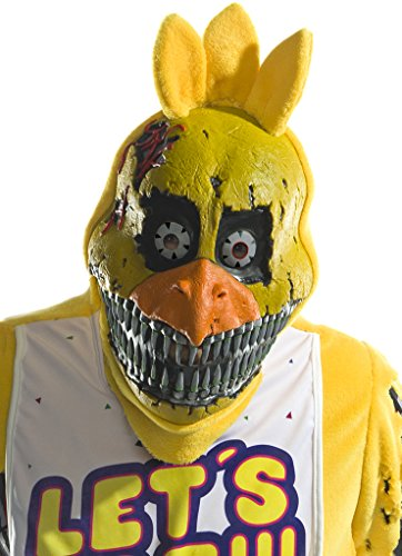 Rubie's Costume Co Men's Five Nights At Freddy's Nightmare Chica 3/4 Mask, As Shown, One Size -