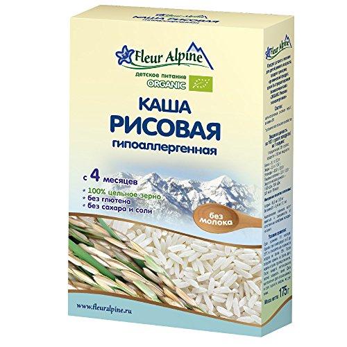 Fleur Alpine Organic Gluten Free Baby Cereal, 6.17 oz/ 175 g (Rice Hypoallergenic No Milk)