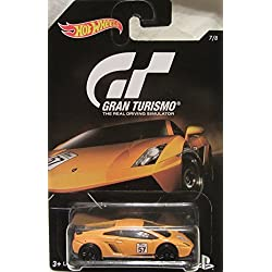 Hot Wheels 2016 Gran Turismo Lamborghini Gallardo LP 570-4 Superleggera 7/8, Orange