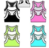 K&A Company Girl's 2-Pack Print Training Sports Bras - Sizes S-L Case Pack 48