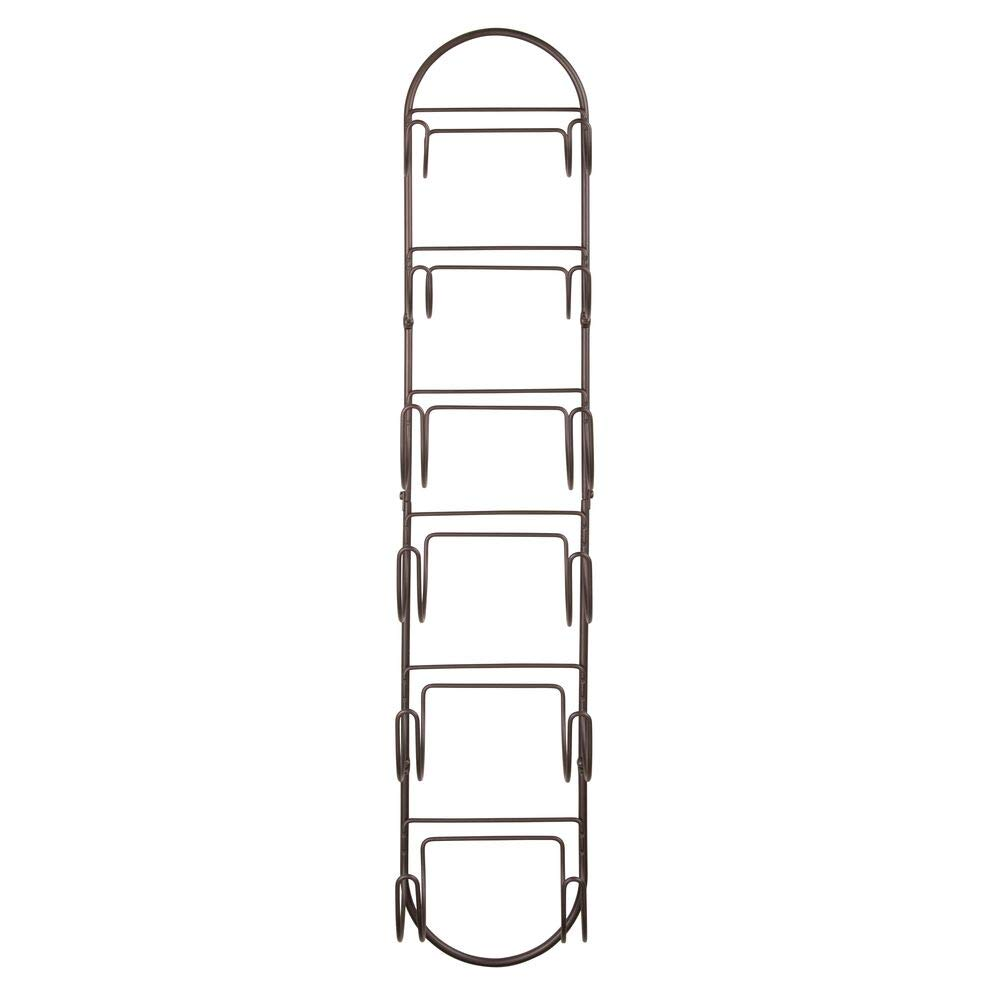 mDesign Wall Mount Towel Storage Rack with Six Compartments for Bathroom Pack of 2 Bronze