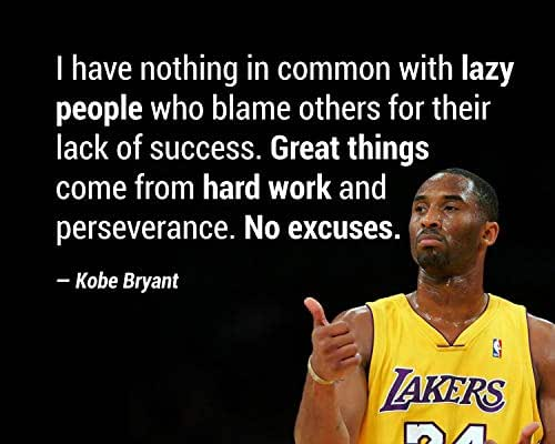 """Amazon.com: Kobe Bryant Quotes-""""Great Things Come From"""