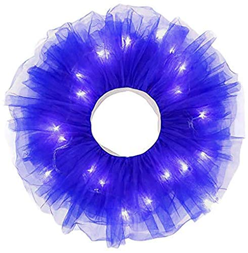 LED Tulle Skirt Girls Kids Light Tutu Princess Glowing Neon Party Carnival Wedding Costume Dance Tulle Skirt
