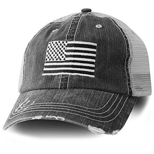 American Flag Cap - Black