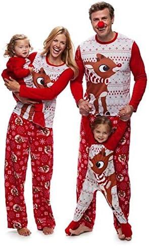 UK Family Matching Xmas Pajamas Set Women Baby Kids Santa Sleepwear Nightwear W