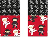 Funkins Cloth Placemats for Kids | Reusable, Eco-Friendly | 2-Ply, Durable | Set of 2, 15''x13'' Cloth Placemats | Ninjas