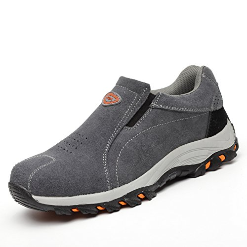 Maizun Men Steel Toe Work Shoes Safety Shoes with Steel Toe Athletic Industrial&Construction Shoes ()