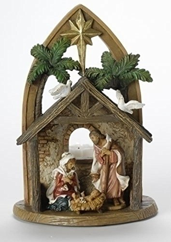 Holy Family Votive (Fontanini Holy Family in Arch Nativity Votive Candle Holder #54631)