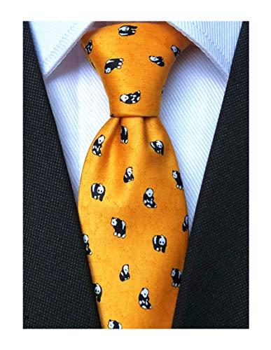Hawaiian Decorating Ideas (Animal Skinny Ties For Men Big Boys Slim Ties : Hawaiian Yellow Panda Printed Novelty)